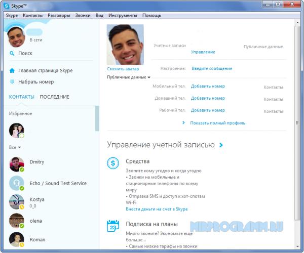 Skype Portable на русском языке