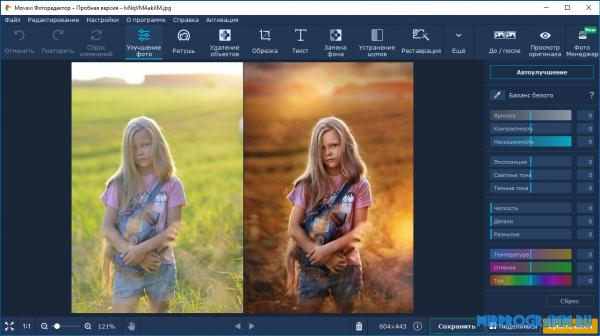 Movavi Photo Editor русская версия