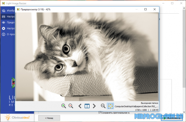Light Image Resizer русская версия программы
