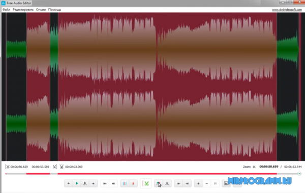 Free Audio Editor на русском языке